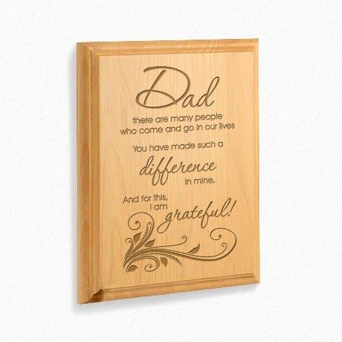 Dad, You Make A Difference Wooden Plaque