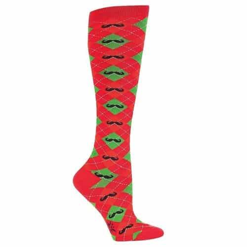 Christmas Mustache Sock