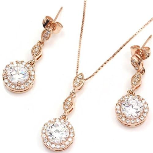 Round Diamante Jewelry Set
