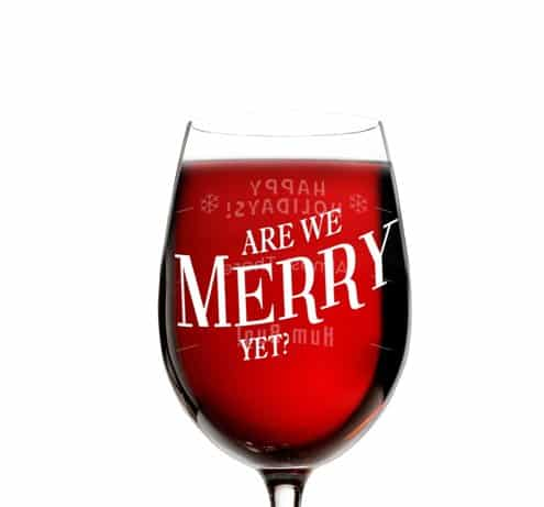 Unique Christmas Wine Glass