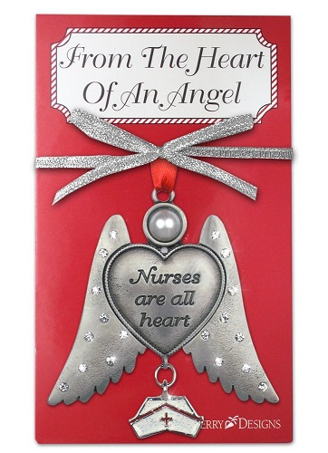 Nurses are all Heart Angel Ornament