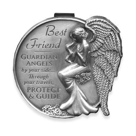 Best Friend Guardian Angel Visor Clip Accent