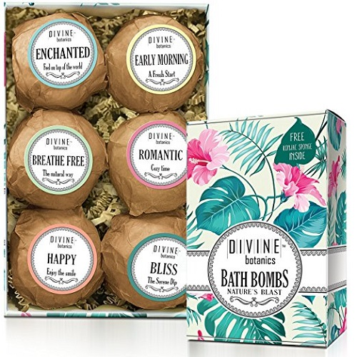 Divine Botanics Lush Bath Bombs Kit