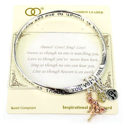 Inspirational Dance Quote Bracelet