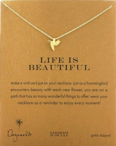 Dogeared Life Is Beautiful Necklace