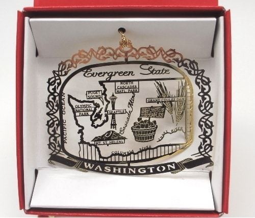 Washington State Christmas Ornament