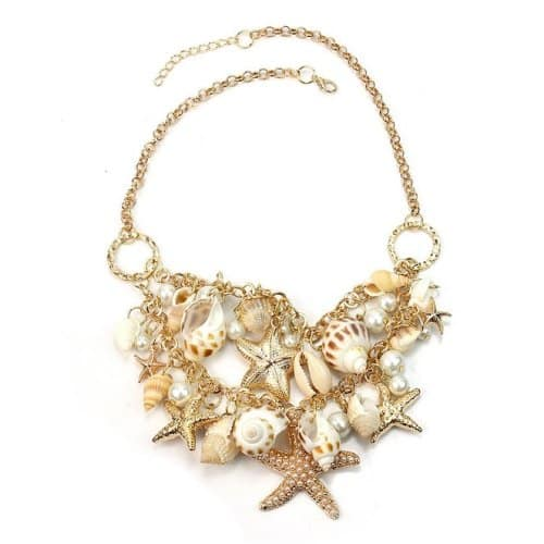 Sea Shell Statement Necklace