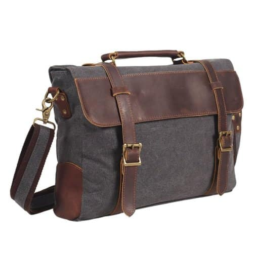 DesertWolf Canvas Briefcase Messenger Bag