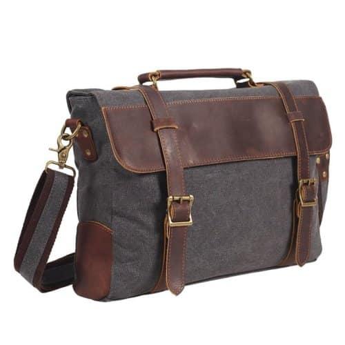 DesertWolf Canvas Briefcase Messenger Bag