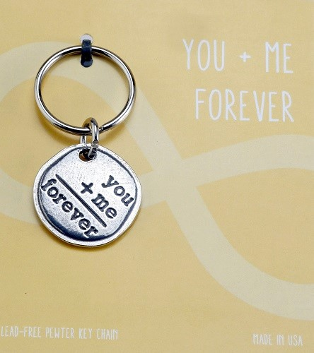 Crosby & Taylor Pewter Sentiment Key Chain