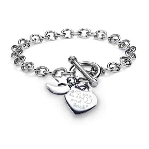 Heart Toggle Charms Bracelet