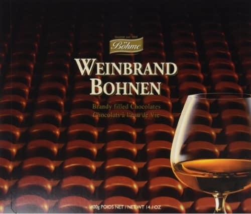 Weinbrand Bohnen Brandy Filled Chocolates