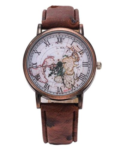 Classic Map Leather Watch