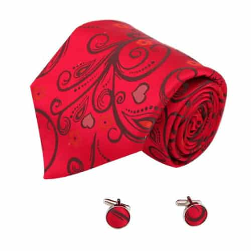 Red Heart Ties Set