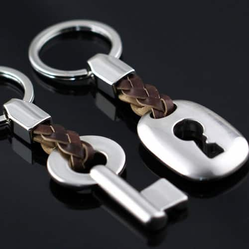 Leather Couple Keychain