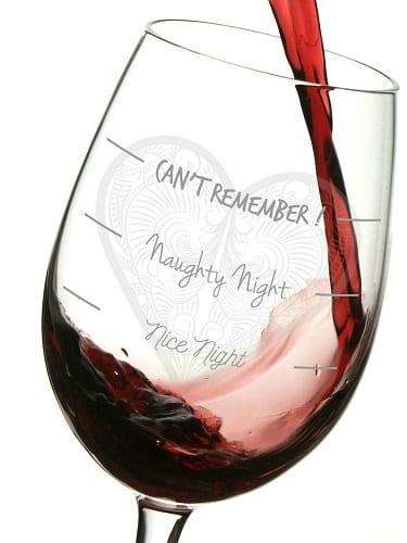 Naughty Night Wine Glass