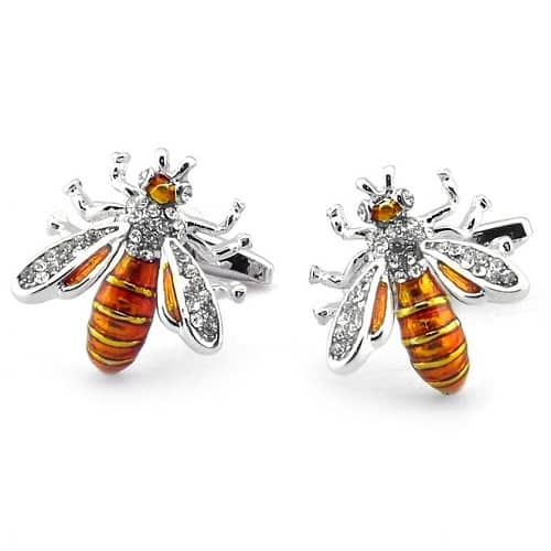 Sirius Orange Bee Cufflinks