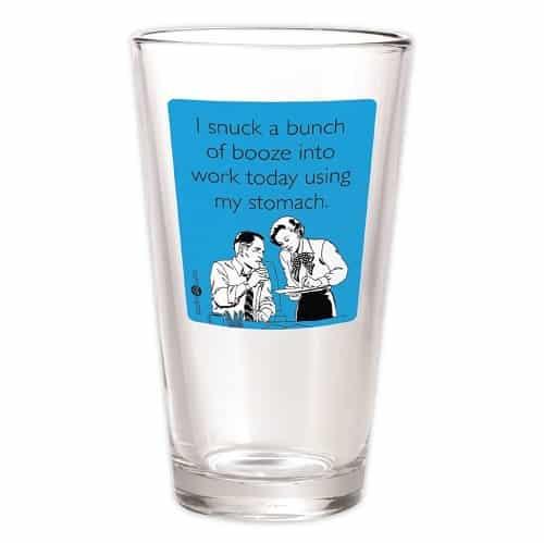 Snuck Booze Pint Glass