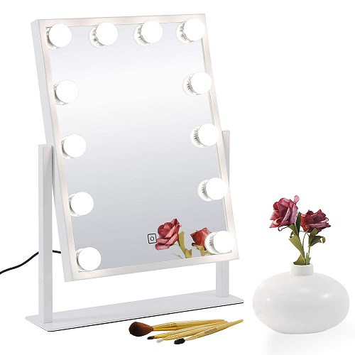 Touch Control LED Bulbs Vanity Mirror