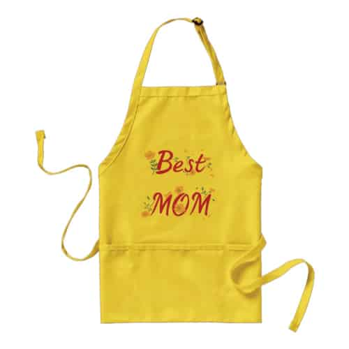 Best Mom Floral Apron