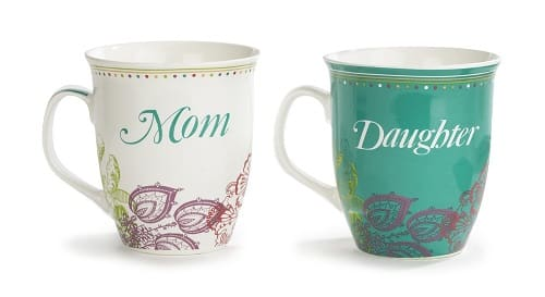 Mom and Daughter Mug Set