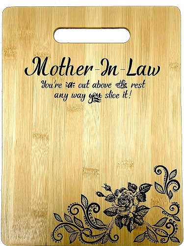Mother In Law Engraved Bamboo Cutting Board