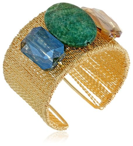 Panacea Gold-Tone Bead Statement Cuff Bracelet