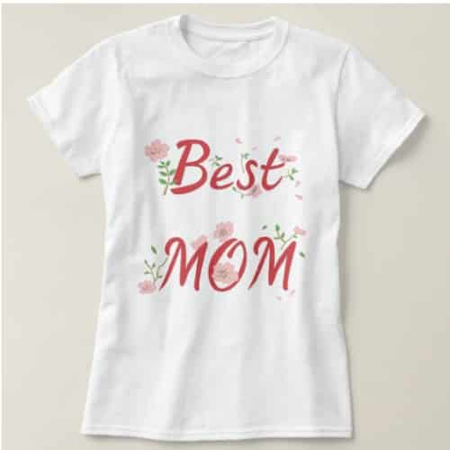 Best Mom Floral Shirt