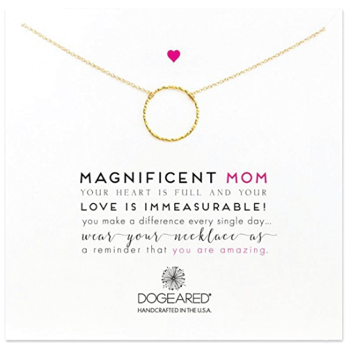 Dogeared The Magnificent Mom Little Sparkle Karma Chain Necklace