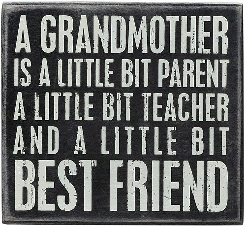Grandmother Quote Box Sign
