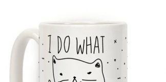 I Do What I Want Cat Mug