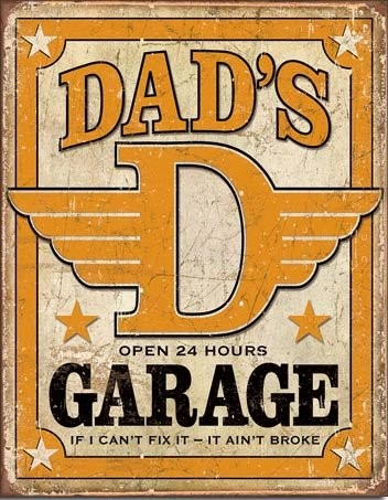 Dad's Garage Vintage Tin Sign