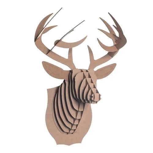 Bucky Cardboard Deer Head