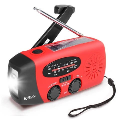 SSolar Hand Crank Weather Radio
