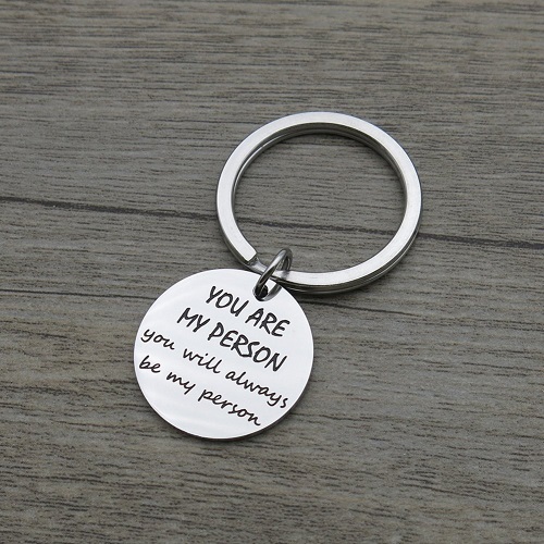 You are My Person Friendship Quote Pendant Keychain