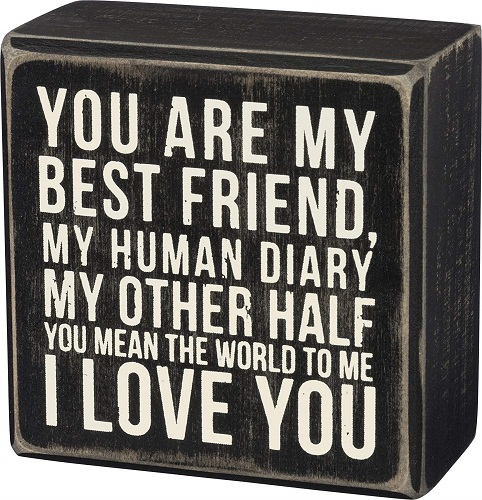 Best Friend Quote Box Sign