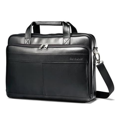 Samsonite Leather Slim Briefcase