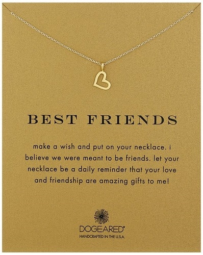"Dogeared Reminder ""Best Friends"" Heart Pendant Necklace"