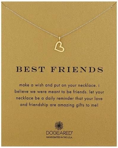 "Dogeared Reminder ""Best Friends"" Heart Pendant Necklace"