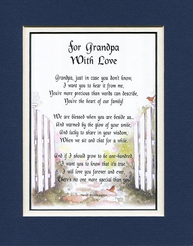 For Grandpa with Love Poem