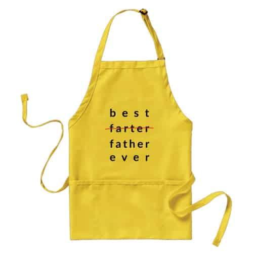 Best Farter Ever Apron. Funny gifts for dad. Christmas gifts for dad.