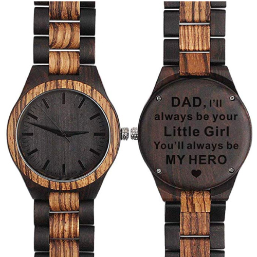 Sentimental Wooden Watch for Dad