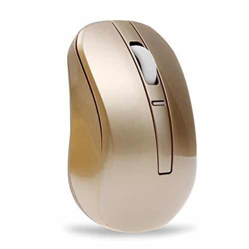 Luxury Gold Wireless Optical Mouse
