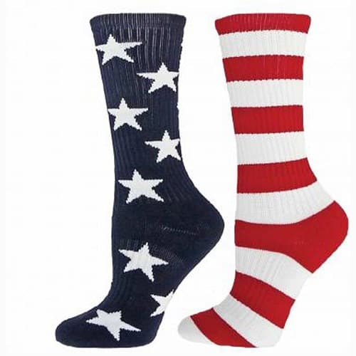 Mismatched Stars and Stripes Crew Socks