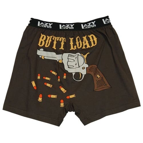 Butt Load-Gun Boxers (Birthday gifts for boyfriend who has everything)
