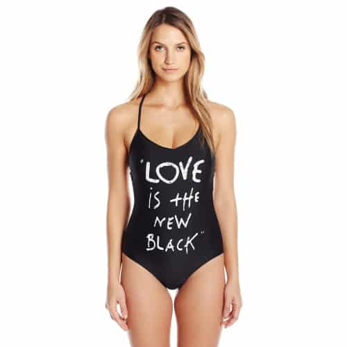 Betsey Johnson Love Is The New Black Swimsuit
