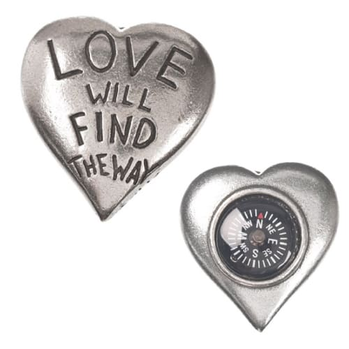 Love Quote Pocket Compass