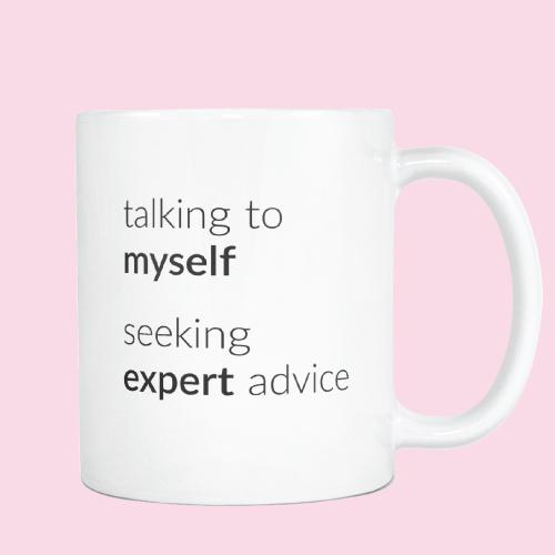Talking To Myself Funny Mug