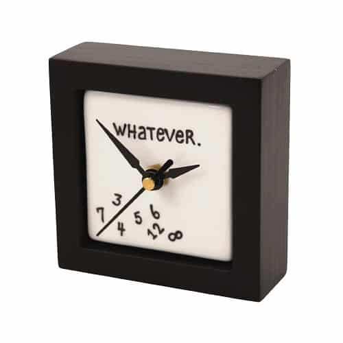 Whatever Desk Clock | Gifts For Girls