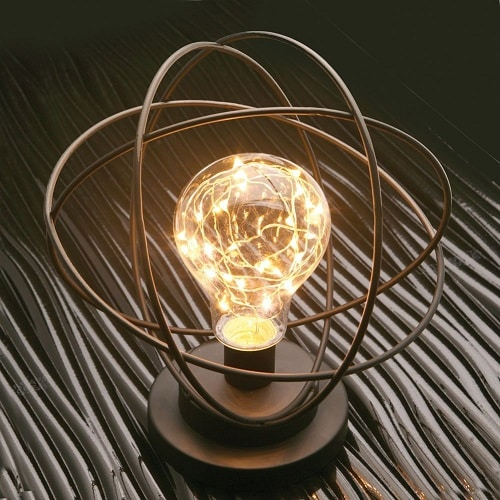 Atomic Age LED Table Lamp. Dorm room decor for guys. Off to college gift ideas for boys.